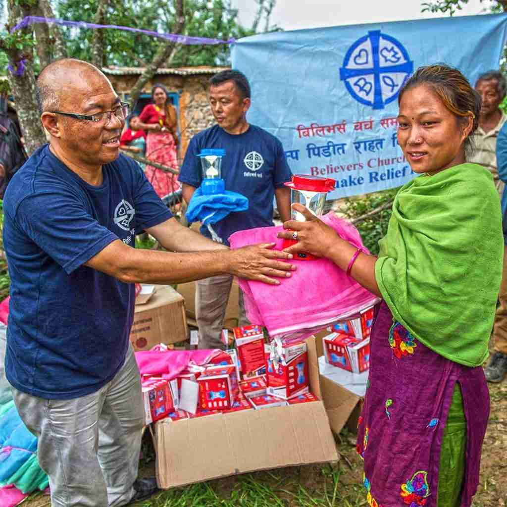National missionaries conduct distribution of disaster relief supplies